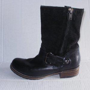 CLARK'S WOMEN'S BLACK LEATHER/SUEDE BOOTS SZ 8.5 M